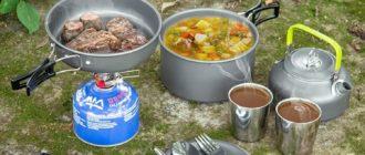 Лучшие походные наборы посуды