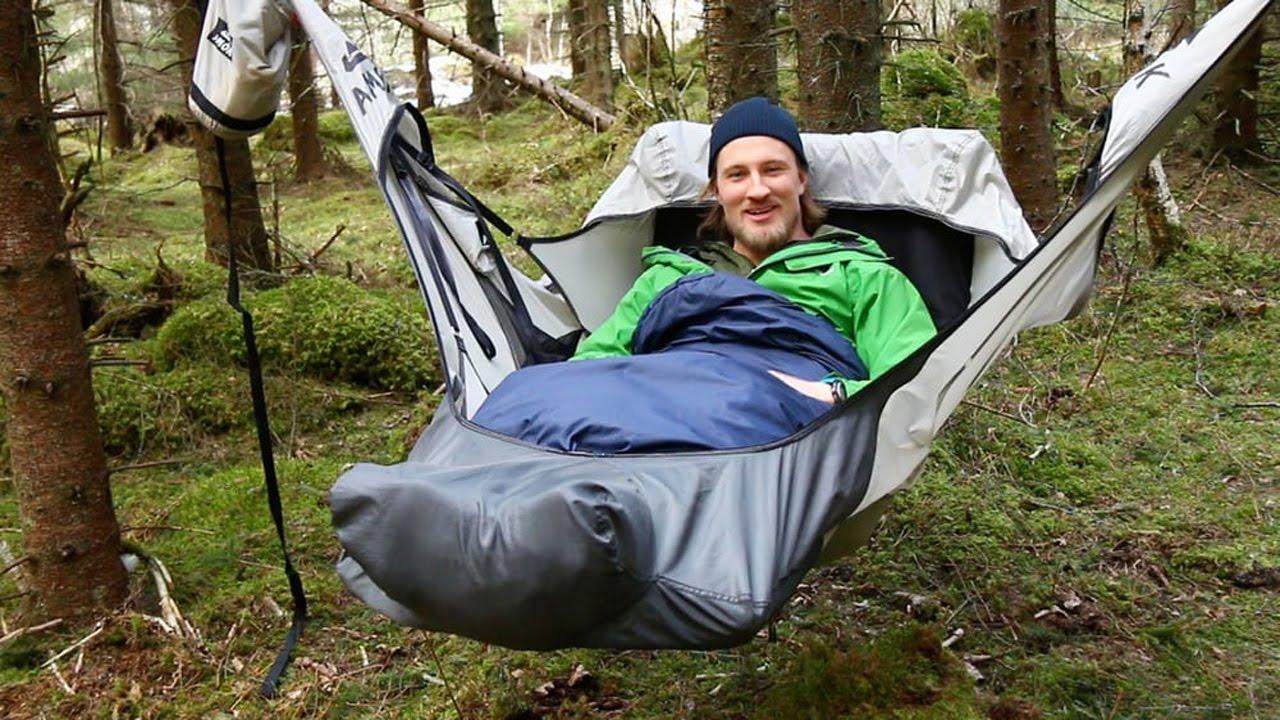 Как удобно спать в гамаке